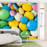 Pastel Candies wall murals