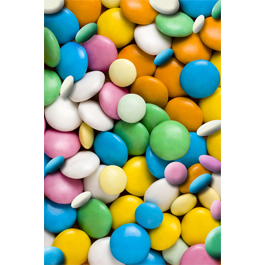 Pastel Candies wall canvas