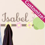 Personalized  Pastel Coat Rack wall decals