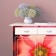 Pastel Flowers Dry erase Furniture Decal
