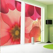 Pastel Flower see through window decals