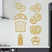 Pastry Goodies wall decal pack