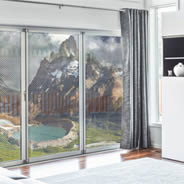 Patagonia Mountain Lake see through window decals