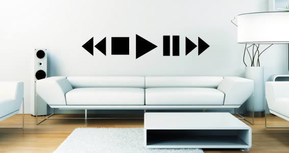 Pause Play wall decals