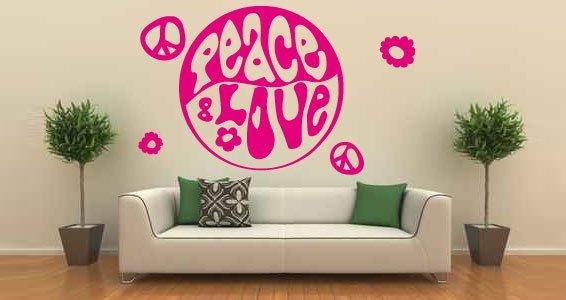Peace U0026 Luv! Removable Wall Decals