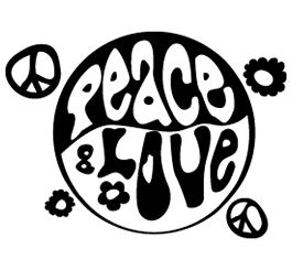 Peace & Luv! removable wall decals
