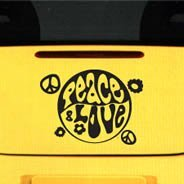 Peace & Luv car decals