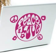 Peace and Love -laptop skins stickers