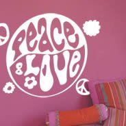 Peace & Luv! wall stickers