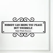 Bring Peace decal quotes