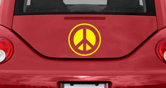 Peace and Love car decals