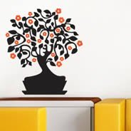 Peach Tree wall decals