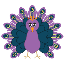 Colorful Peacock Coat Rack decal