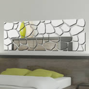 Pebble wall mirror