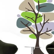 Pebbles tree wall decals