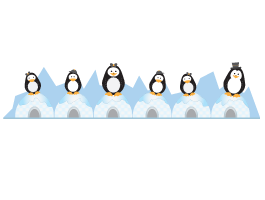 Penguin Family coat rack decals