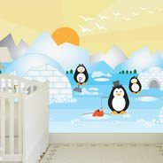 Penguins wall murals