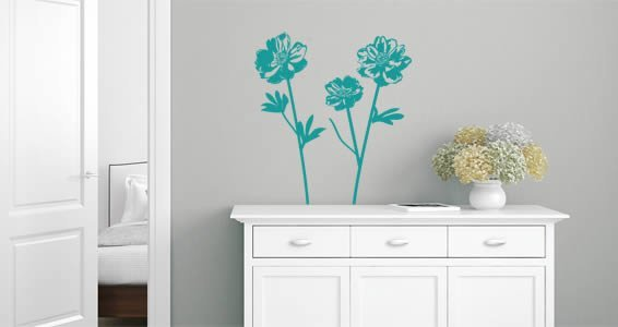 Peonies Flowers Wall Decals Dezign With A Z