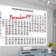 Periodic Table Dry Erase decal