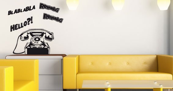 Ring the Phone wall decals