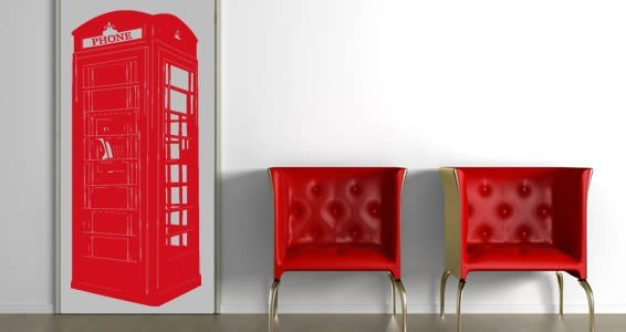 London Phone Booth wall decals