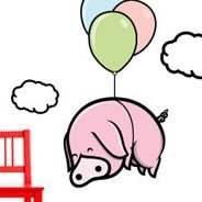 Airborne Pig wall decals by ZaZ