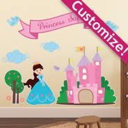 Custom Princess Kingdom pack wall decals