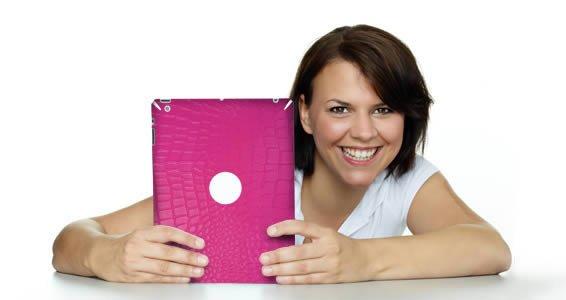 Pink Croco iPad skin