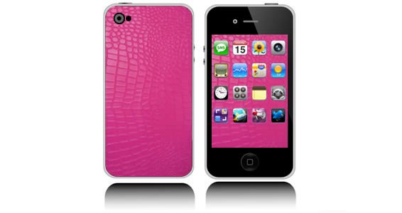 Pink Croco iphone skin