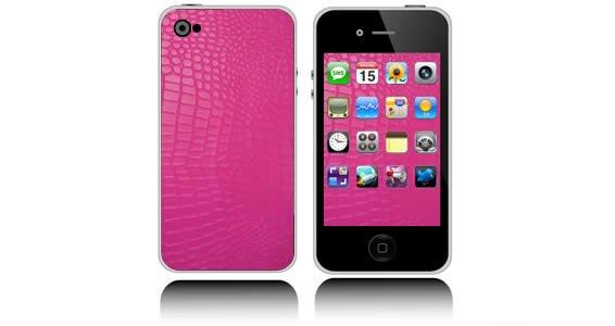 Pink Croco iPhone decals skin