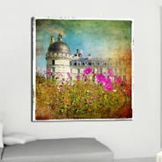 Pink Poppies Palace digital canvas