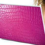 Pink Crocodile laptop skin