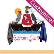 Personalized  Lettering Pirate Hook rack wall decals