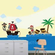 Pirates Land wall murals