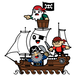 Pirates decorative wall stickers by Charuca