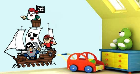 Pirates decorative wall stickers