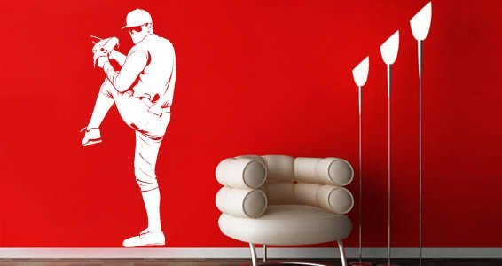 Charmant Pitcher Baseball Wall Decals