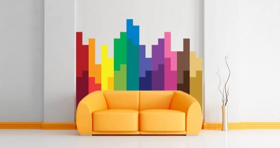 Pixel Block Modern Wall Decals