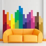Pixel Blocks wall decal