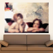 Pixel Sistine Cherubs decal