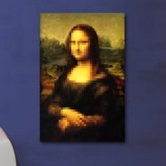 Pixel Art Mona Lisa canvas