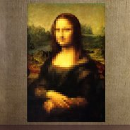 Pixel Art Mona Lisa decal