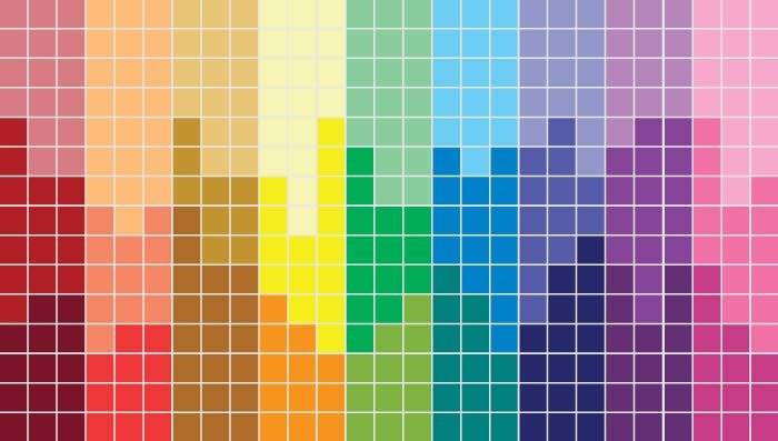 Rainbow Pixels Wall Canvas Dezign With A Z
