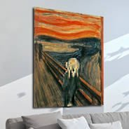 Pixel Art The Scream wall canvas