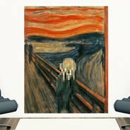 Pixel Art The Scream wall decals