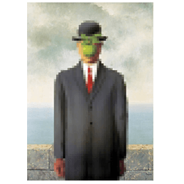 Pixel Art Son of Man wall canvas