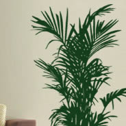Green plant wall decals