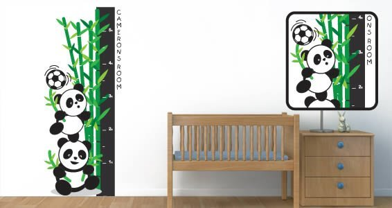 Custom Playful Panda decal growth chart