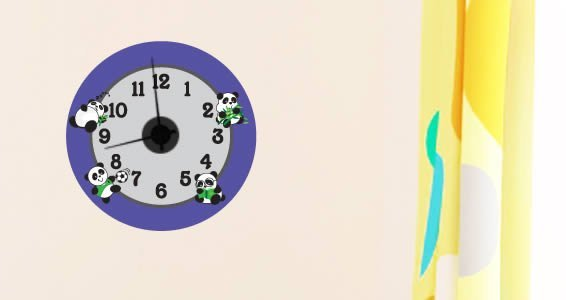 Playful Panda clock decals (mechanism included )