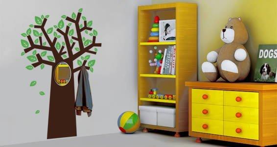 Playful Tree acrylic miror and vinyl